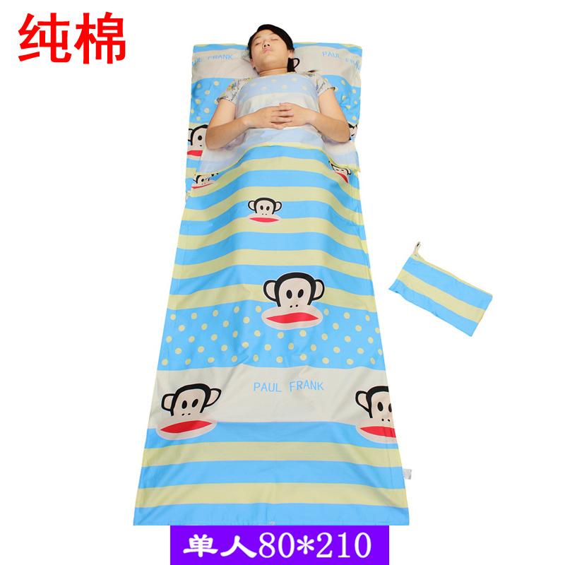 火車臥鋪隔髒睡袋純棉床單旅遊超輕便攜式單人成人兒童卡通防踢被