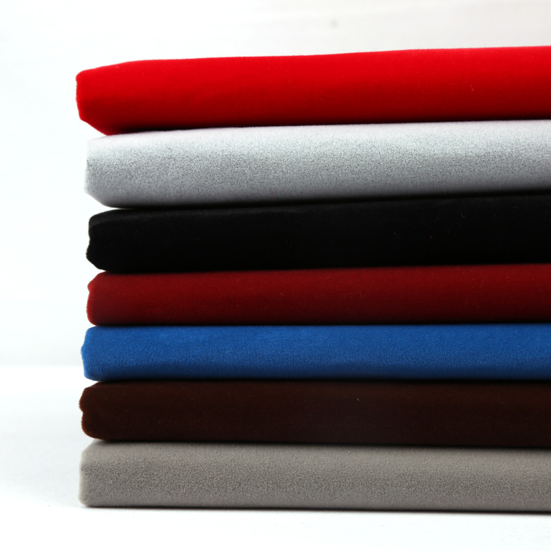 背胶绒布 自粘植绒布不干胶柜台布展示垫布加厚黑色带胶 绒布布料