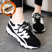 New Korean version 2015 winter shoes flat plus velvet sneakers women's shoes shoes casual shoes running shoes students Forrest