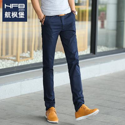 夏季男士休闲修身小脚西裤长裤子