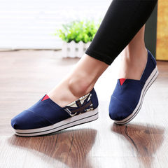 MI Ka fall 2015 sneakers girl Korean version of boom foot lazy shoes couples with flat shoes women's shoes