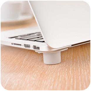 居家家 便携式笔记本散热脚垫防滑垫子 手提电脑降温排风底座支架图片