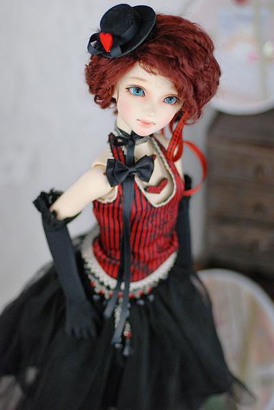 暗の森 1/3BJD娃用套装(手套+修身胸衣+纱裙+饰品)(定制)