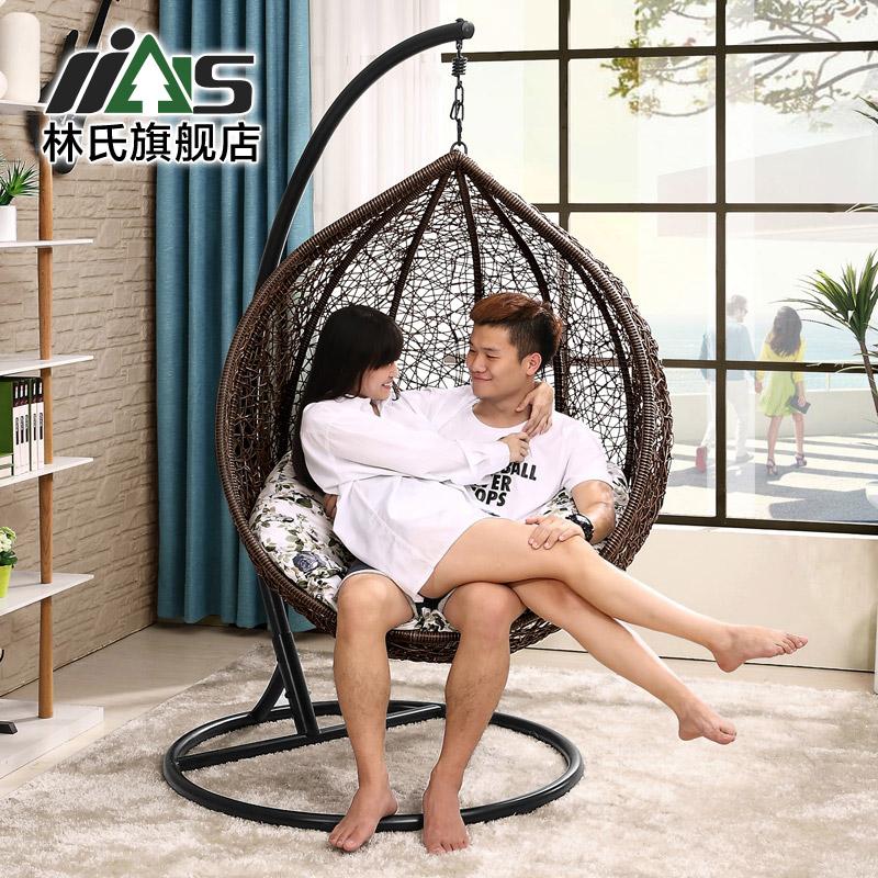林氏 秋千椅鳥巢吊椅陽台戶外搖椅 吊籃藤椅LS012DL1
