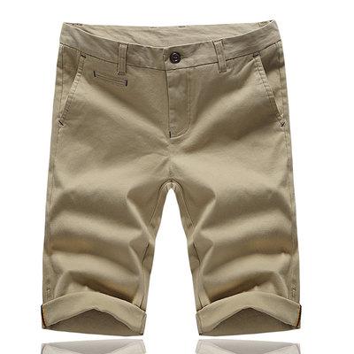夏季短裤修身直筒男纯棉青少年中裤夏裤成都打人男司机同款五分裤