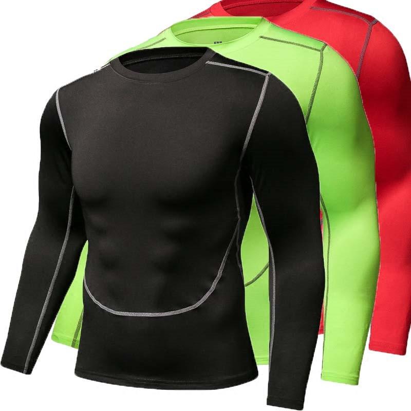 紧身衣运动上衣男骑行服弹力透气速干长袖T恤篮球跑步训练健身服