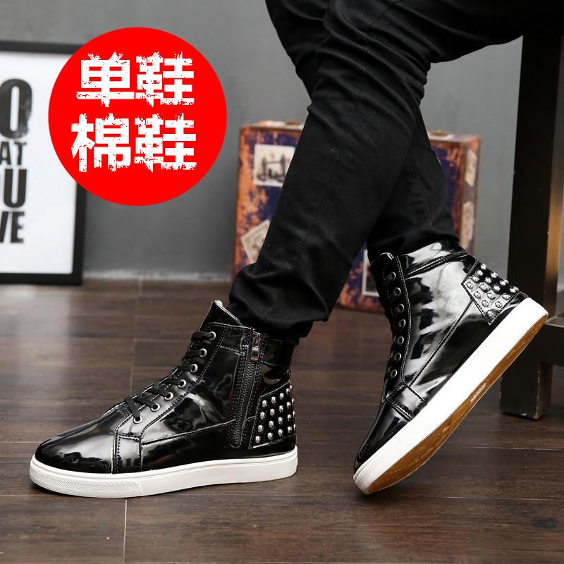 Увеличивает мужская обувь в снег осенью и зимой плюс бархат обуви тенденция студент обувь досуг обувь Мартин Хань улица