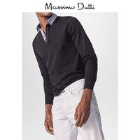 Весна скидка Massimo Dutti мужской хлопок воротник рубашки POLO рубашка 00702302800