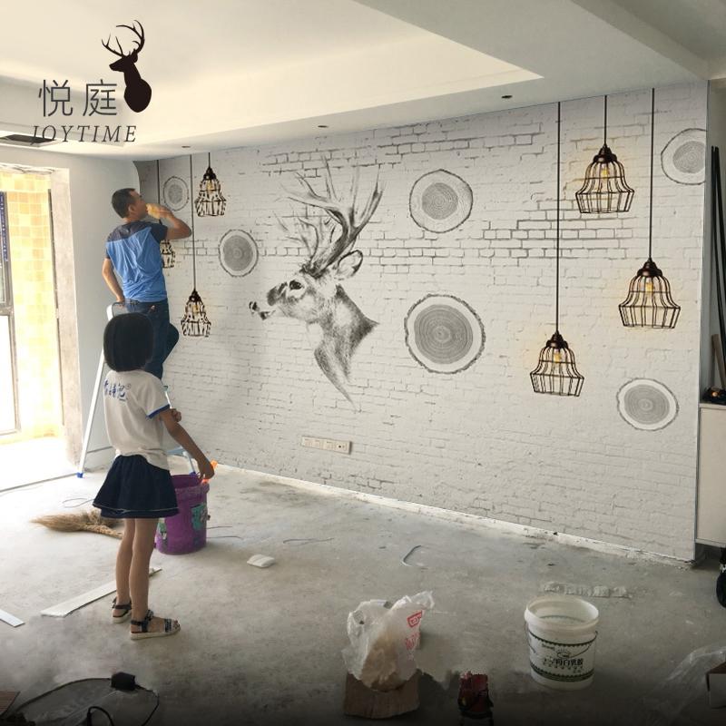 电视背景墙壁纸简约现代客厅壁画影视墙布卧室个性艺术北欧墙纸