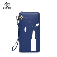 Banpo leather wallet new shopping malls with the first layer of leather zip around wallet-card-bulk bags