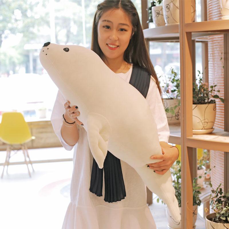 海豹海獅毛絨玩具公仔布娃娃抱枕可愛玩偶靠墊生日 送女生男生