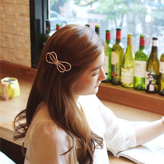 Good Korean hair accessories hair clip bow rhinestone clip headgear clip Duckbill clip Korean fashion fringe package mail