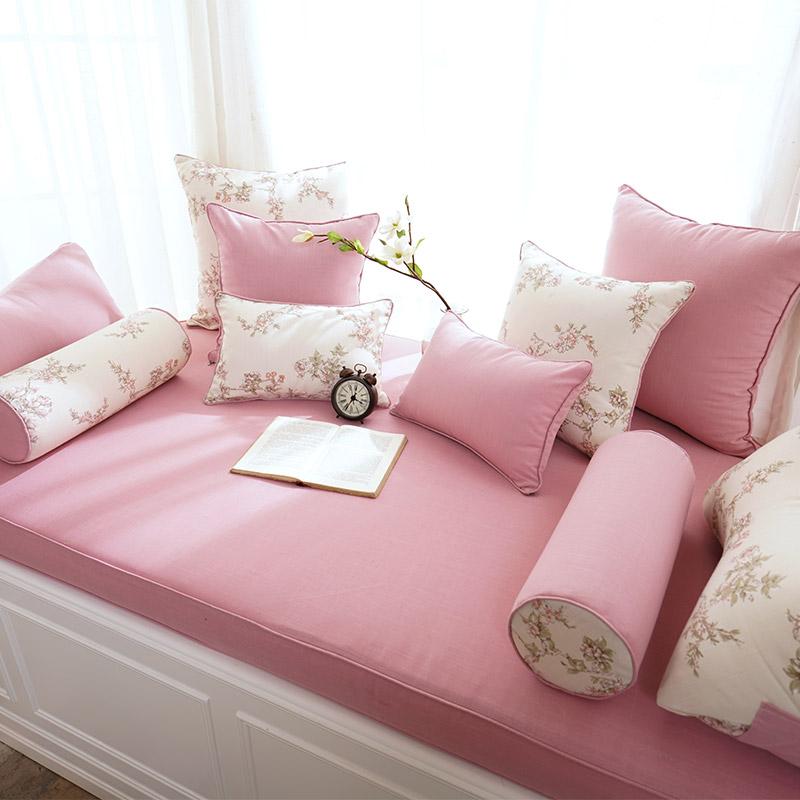 飘窗垫定做公主儿童现代简约高密度海绵卧室阳台榻榻米垫窗台垫子