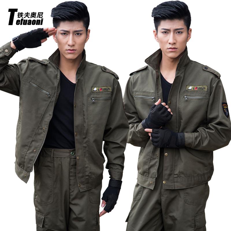 鐵夫奧尼戶外101空降師特種兵軍裝工作服迷彩服套裝男 作訓服