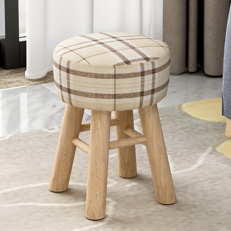 小凳子實木板凳家用小椅子換鞋凳圓凳矮凳坐墩布藝凳子