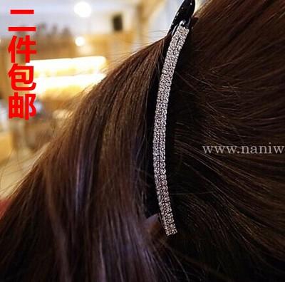 Корея импортируемые головные уборы полный горный хрусталь хвост держатель фантазии горный хрусталь волос Аксессуары твист зажим банан клипы волос клип Заколка клип вертикальный зажим