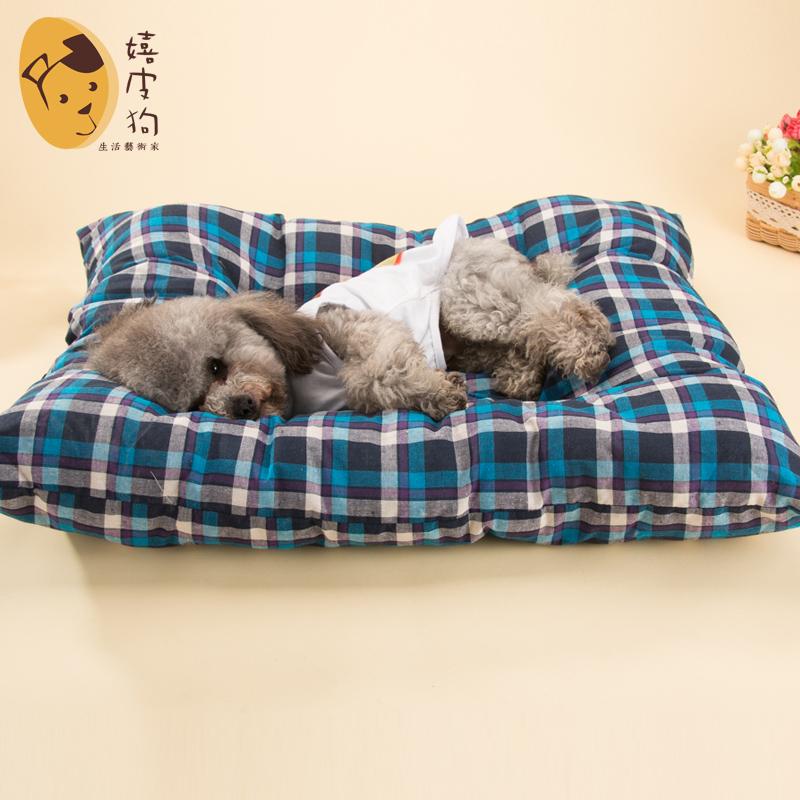 Собака сон подушка домашнее животное собака коврик сопротивление укусить тедди щенок гнездо подушка матрас китти собака одеяла лето статьи четыре сезона