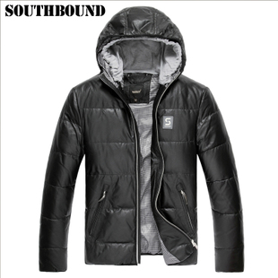 Dongkuan men's leather leather Haining leather jacket leather jacket Korean version of Slim short paragraph Hoodie