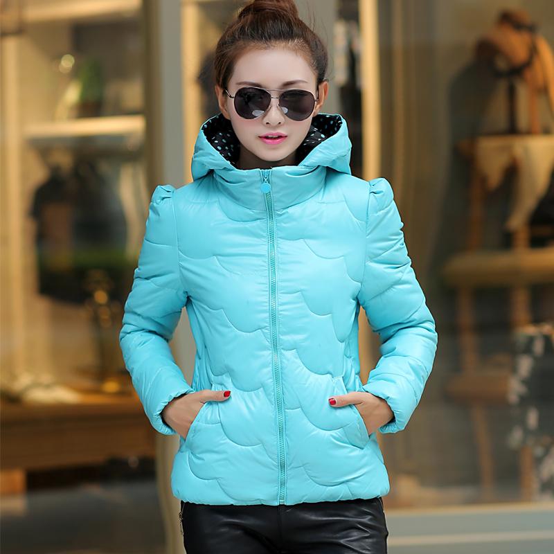 2015 новый ультра легкий вниз куртки женщин зимней корейской версии self Купированные балахон плюс размер пальто женщин куртка волна