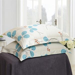 紫兰玉一对枕头套全棉斜纹枕套纯棉枕套单人枕套子两只特价