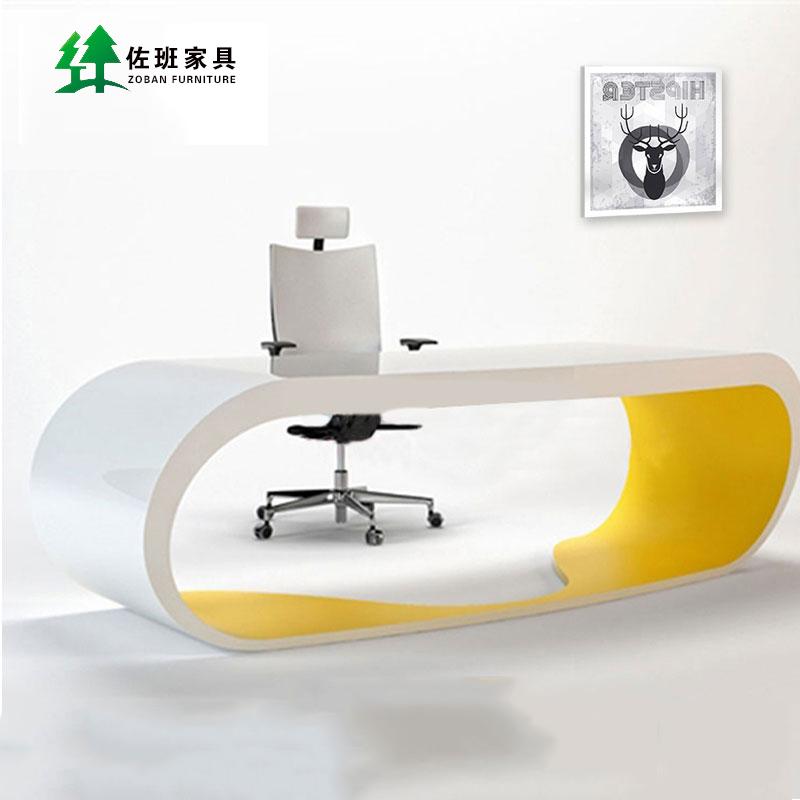 上海佐班辦公 白色烤漆老板總裁桌高檔簡約 經理桌大班台