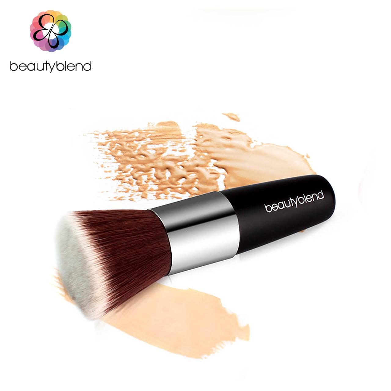 Белл плоский плоский заложил фундамент кисти румяна макияж кисть инструмент кисть для рисования макияжа косметические кисти