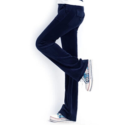 2021 spring clothes vertical bell bottoms high-grade velvet sports pants womens pants slightly appear thin leisure extended wide leg pants