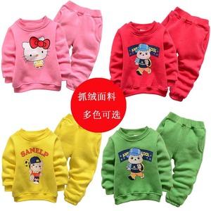 聪鹏男女童秋冬装婴儿童装运动外套装0-1-2-3-4-5岁宝宝卫衣套装