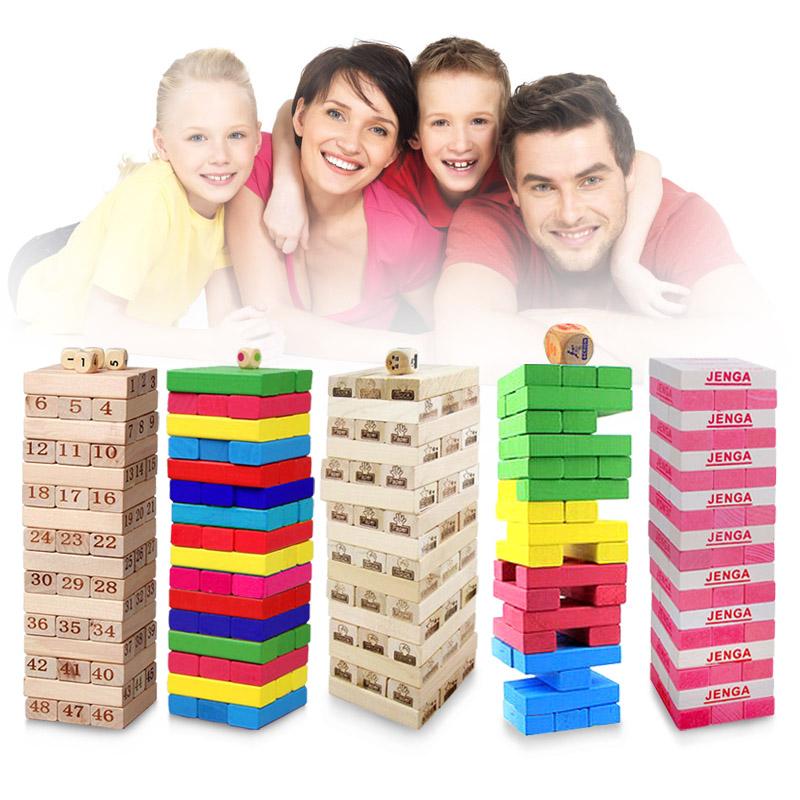 叠叠乐原木叠叠高猜拳层层叠积木儿童益智桌面玩具叠垒酒吧游戏
