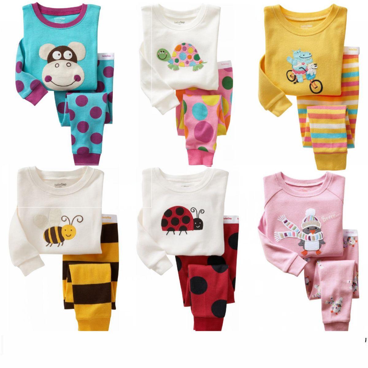Младенческая и детская белье костюм лайкры длинные рукав детское осень мальчиков Одежда хлопка пижамы для девочек падение одежды GAP