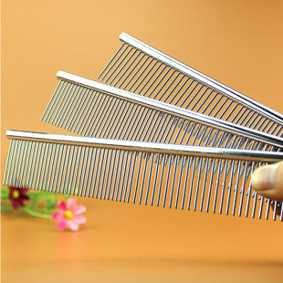 Pet Grooming comb metal comb single straight row row row density dual comb pet dog comb straight comb