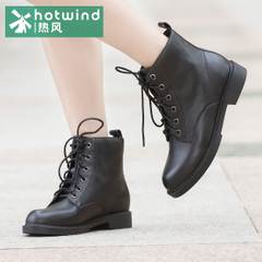 Hot Martin boots new black tide girls winter boots in the short tube with round-headed women boots H81W5410