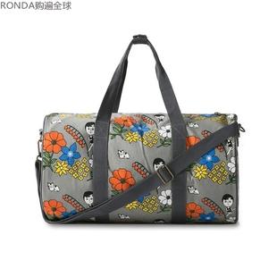 男女式单肩斜挎手拎棉布包旅行袋子行李袋手提旅行包1537韩国进口