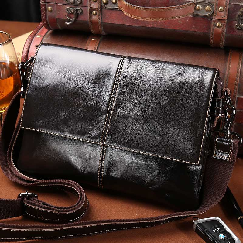 Leather Mens bag new mens Messenger Bag Shoulder Bag