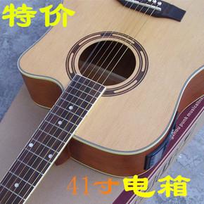 Гитары электроакустические,  41 дюймовый ель поверхность электрическая коробка баллада гитара пять модель жидкокристаллический коробка гусли бакелит гитара производительность двойной гусли счастливый это, цена 4288 руб
