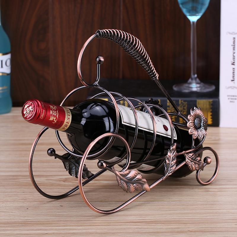 限8000张券欧式创意客厅酒柜红酒架创意铁艺摆件装饰品葡萄酒架酒瓶架