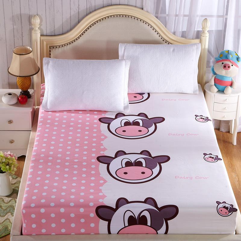 旺帛坊單件加厚席夢思保護套斜紋印花床笠磨毛床墊罩 床墊套