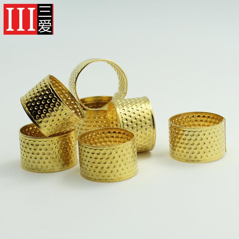 Три любовь шить DIY инструмент медь наперсток обруч золотой наперсток домой необходимо семья необходимо шить заполнить использование