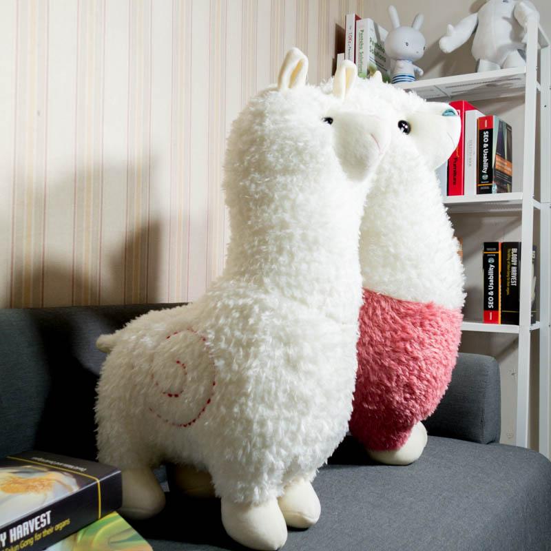 羊駝公仔草泥馬大小布娃娃玩偶可愛公仔 兒童生日 品送女生