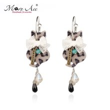 Selling MOREACC act the role ofing is tasted Personality fashion cats lace bow ear ring Earrings can change without ear pierced ears