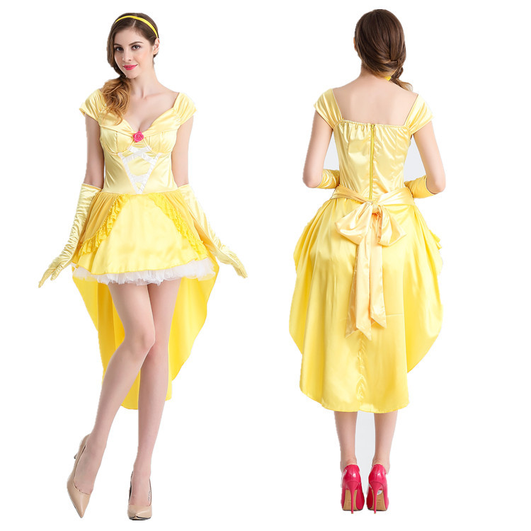 New Halloween role play adult snow white dress Cinderella stage show cosplay costume