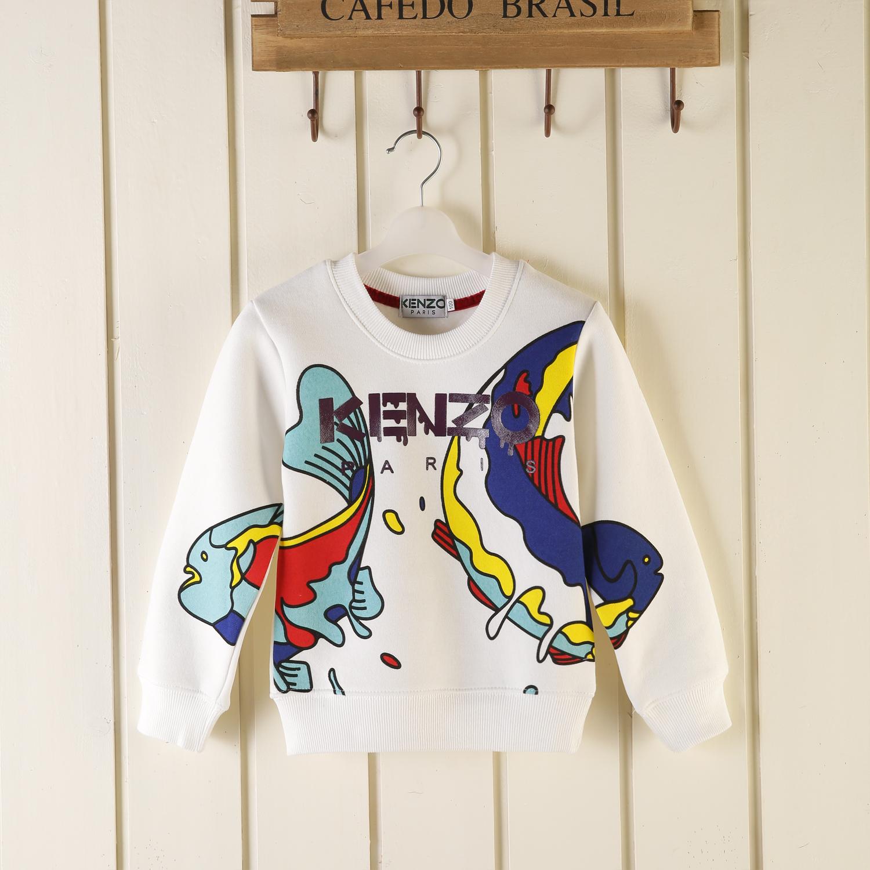 Новый дизайн Kenzo2015 осень/зима мужчин дети носят детей одежда детские рубашки в конце рыбы и флис свитер пальто