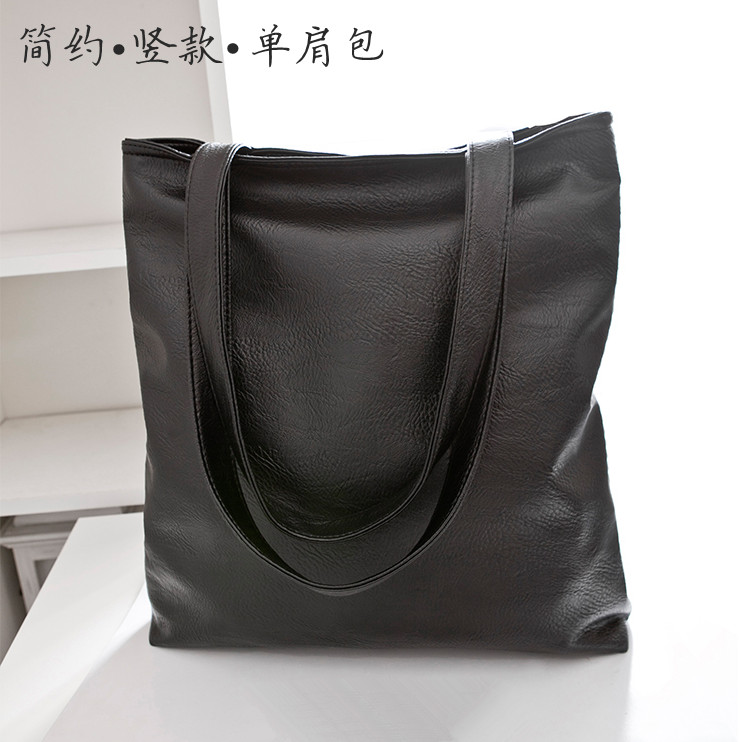 Simple one side PU bag for women