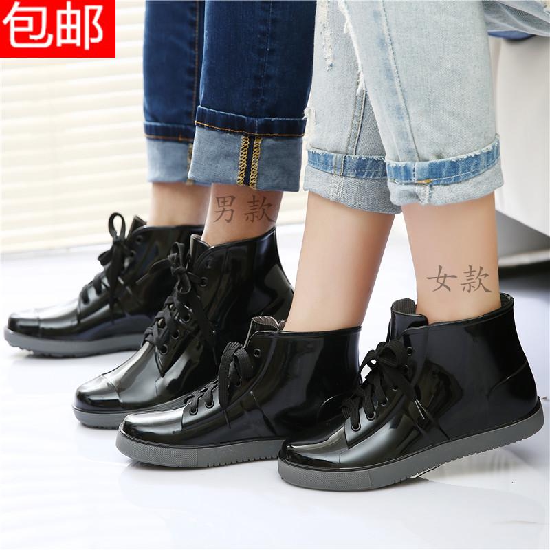 Оригинальной корейской версии почты короткой трубки воды моды дождя сапоги обувь Холст полосы с обуви бархат как женщины сапоги специальные предложения новое