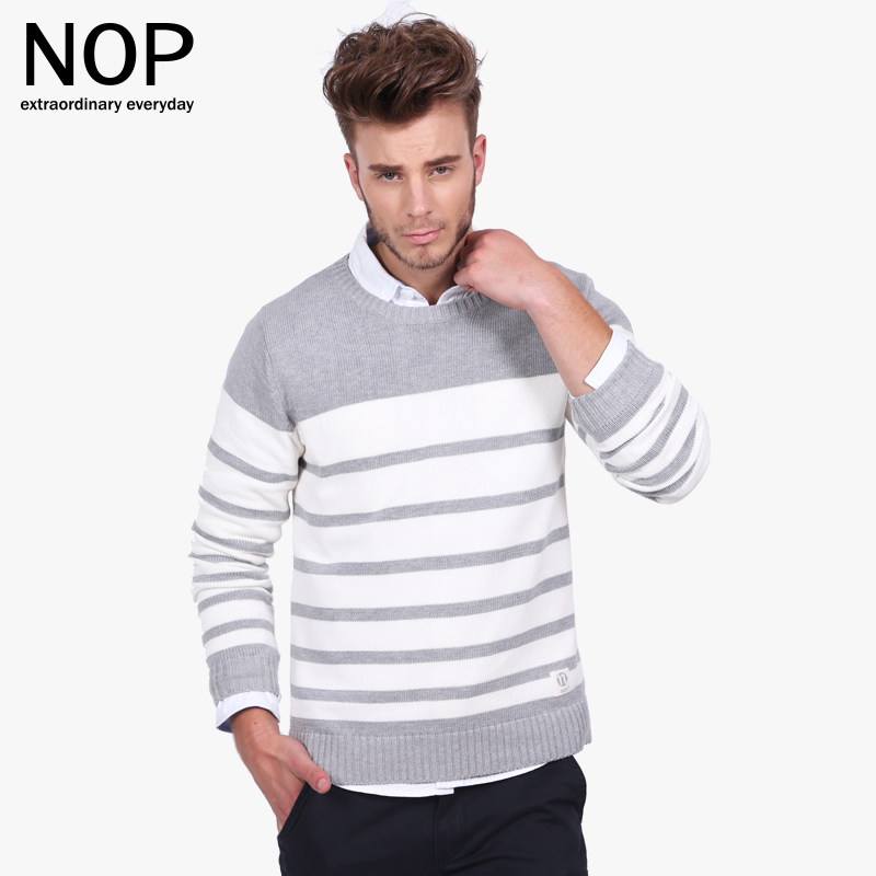 NOP striped sweater college style