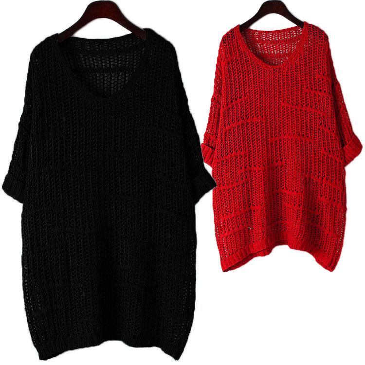 2015 осень корейского мода плюс размер ажурные вязать рубашка женщины длинные рубашки свободные водолазку платья осень приливов