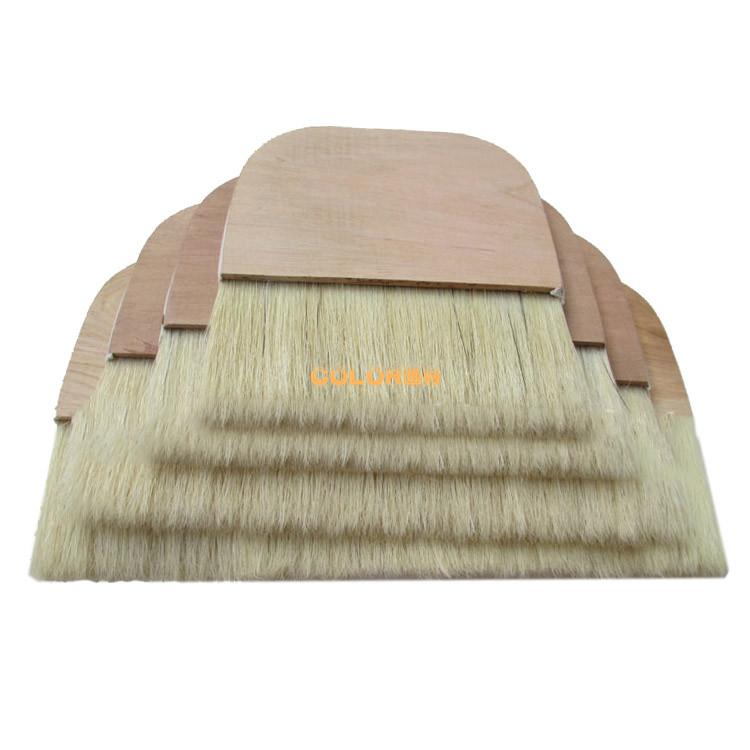 猪鬃排刷超大号猪毛画刷猪鬃木板裱画排刷浆糊刷装裱材料油漆板刷
