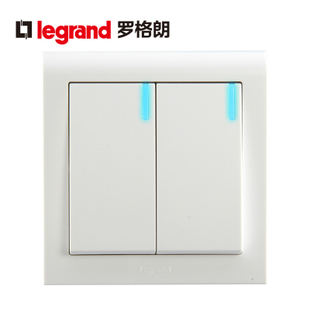 TCL Legrand switch socket switch two single control K5 a classic white with LED light K5 32 1 2CN