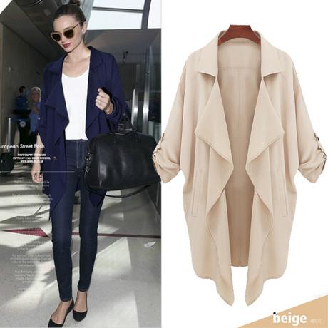 Новая мода женщин в Европе и Америке непринужденной атмосферой плюс размер пальто ветровка Q069 контракт