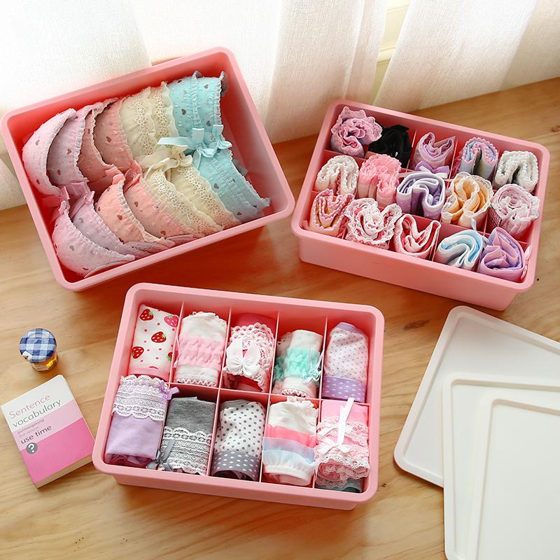 Для хранения белья коробка рабочий стол пластик покрытый бюстгальтер трусы носки разбираться коробка комната с несколькими кроватями ящик коробку сгущаться
